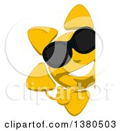 Clipart Of A Cartoon Sun Character On A White Background Royalty Free Illustration