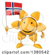 Clipart Of A 3d Sun Character On A White Background Royalty Free Illustration
