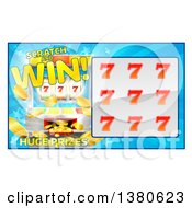 Clipart Of A Slot Machine Lottery Instant Scratch And Win Scratchcard Design Royalty Free Vector Illustration