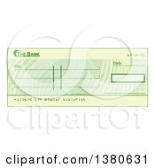 Clipart Of A Blank Bank Check Royalty Free Vector Illustration