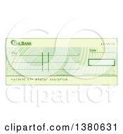 Blank Bank Check