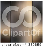 Clipart Of A Background Of Horizontal And Vertical Brushed Metal Panels Royalty Free Illustration