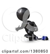 Clipart Of A 3d Black Man Sprinter Taking Off On Starting Blocks On A White Background Royalty Free Illustration by KJ Pargeter