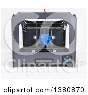 Clipart Of A 3d Printer Creating A Star On A White Background Royalty Free Illustration by KJ Pargeter