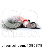 Clipart Of A 3d F1 Race Car With Speed Explosion Effect Royalty Free Illustration
