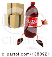 Clipart Of A 3d Soda Bottle Character On A White Background Royalty Free Illustration