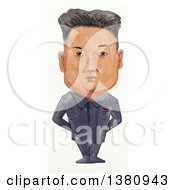 Clipart Of A Watercolor Styled Caricature Of Kim Jong Un Royalty Free Illustration