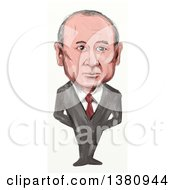 Clipart Of A Sketched Caricature Of Vladimir Vladimirovich Putin Politician And President Of Russia Royalty Free Illustration