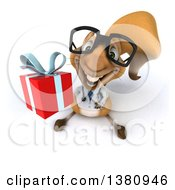 Clipart Of A 3d Doctor Or Veterinarian Squirrel On A White Background Royalty Free Illustration