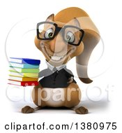 Clipart Of A 3d Business Squirrel On A White Background Royalty Free Illustration