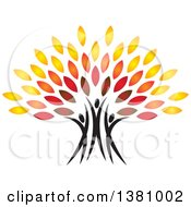 Clipart Of A Family Forming The Trunk Of A Tree Royalty Free Vector Illustration