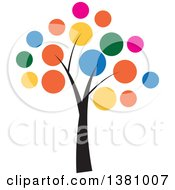 Clipart Of A Colorful Tree Royalty Free Vector Illustration