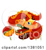 Clipart Of A Chinese New Year Dragon Royalty Free Vector Illustration by BNP Design Studio