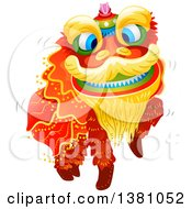 Clipart Of A Dancing Chinese New Year Dragon Royalty Free Vector Illustration by BNP Design Studio