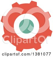 Clipart Of A Steampunk Gear Cog Wheel Royalty Free Vector Illustration