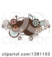 Clipart Of A Steampunk Design With Gears Royalty Free Vector Illustration