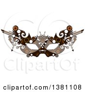 Clipart Of A Victorian Steampunk Eye Mask Royalty Free Vector Illustration