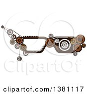 Clipart Of Steampunk Glasses Frames With Gears Royalty Free Vector Illustration by BNP Design Studio