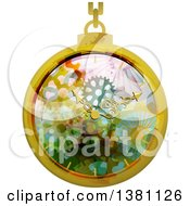 Clipart Of A Steampunk Pocket Watch Royalty Free Vector Illustration