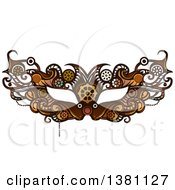 Clipart Of A Victorian Steampunk Eye Mask Royalty Free Vector Illustration by BNP Design Studio