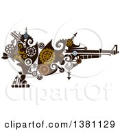 Victorian Steampunk Riffle With Gears