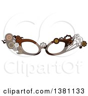 Clipart Of Steampunk Glasses Frames With Gears Royalty Free Vector Illustration
