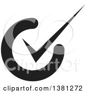 Clipart Of A Black Selection Tick Check Mark App Icon Button Design Element Royalty Free Vector Illustration