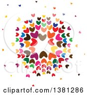 Clipart Of A Circle Of Colorful Hearts Royalty Free Vector Illustration by ColorMagic