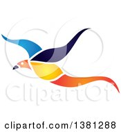 Clipart Of A Flying Exotic Bird Royalty Free Vector Illustration by ColorMagic