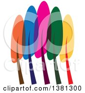 Clipart Of A Colorful Tree Royalty Free Vector Illustration by ColorMagic