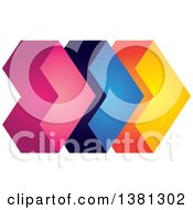 Clipart Of A 3d Colorful Abstract Arrow Design Royalty Free Vector Illustration by ColorMagic