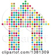 Clipart Of A Colorful Polka Dot House Royalty Free Vector Illustration by ColorMagic