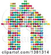 Clipart Of A Colorful Abstract House Royalty Free Vector Illustration
