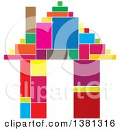 Clipart Of A Colorful Geometric House Royalty Free Vector Illustration by ColorMagic