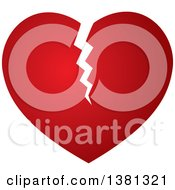 Clipart Of A Gradient Broken Red Heart Royalty Free Vector Illustration by ColorMagic