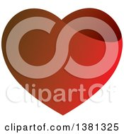 Clipart Of A Gradient Red Heart Royalty Free Vector Illustration