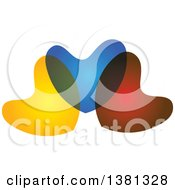 Clipart Of Colorful Overlapping Hearts Royalty Free Vector Illustration
