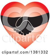 Clipart Of A Handshake In A Heart Royalty Free Vector Illustration by ColorMagic