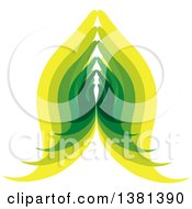 Clipart Of Green And Yellow Prayer Or Namaste Hands Royalty Free Vector Illustration by ColorMagic