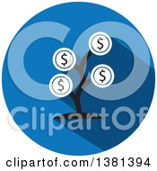 Clipart Of A Flat Design Round Money Tree Icon Royalty Free Vector Illustration by ColorMagic