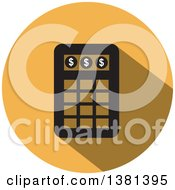 Clipart Of A Flat Design Round Calculator Icon Royalty Free Vector Illustration by ColorMagic