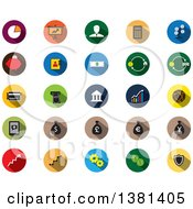 Clipart Of Flat Design Finance Icons Royalty Free Vector Illustration