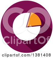 Clipart Of A Flat Design Round Pie Chart Icon Royalty Free Vector Illustration by ColorMagic