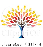 Clipart Of A Tree Person Royalty Free Vector Illustration