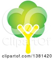 Clipart Of A Happy Tree Person Royalty Free Vector Illustration