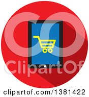 Flat Design Shopping Cart And Smart Phone Icon