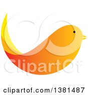 Clipart Of A Gradient Orange Bird Royalty Free Vector Illustration by ColorMagic