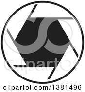 Clipart Of A Black And White Camera Shutter Royalty Free Vector Illustration