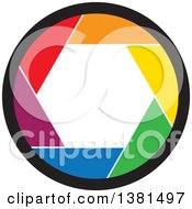 Clipart Of A Colorful Camera Shutter Royalty Free Vector Illustration
