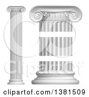 Clipart Of Greek Or Roman Column Pillars Royalty Free Vector Illustration